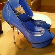Bebe Blue Stiletto Pumps Photo