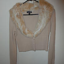 Bebe Cashmeretop With Rabbit  Fur Collar  Size M Photo