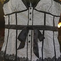 Bebe Checkered Top Large Nwot Never Worn Photo