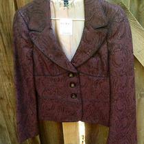 Bebe Corseted Slim Deep Purple Chn Blazer Corset Jacket Size 2 Nwt  Photo