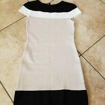 Bebe Cotton Dress Black White Beige Size S  Photo