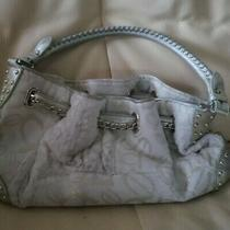 Bebe Cream and Gold Clutch With Shoulder Strap Photo