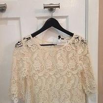 Bebe Crochet Cream Top  Photo