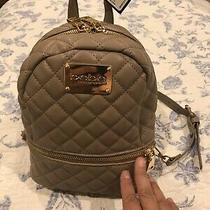 Bebe Danielle Quilted Stylish Shoulder Mini Backpack Taupe Msrp 89.00 (New) Photo