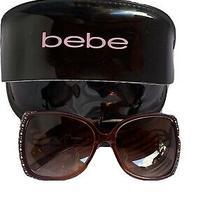 Bebe Designer Sunglasses Amusing Bb7000 Amethyst Purple Jewels With Case Photo