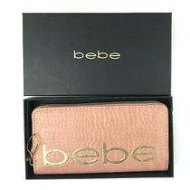 Bebe Fabiola Croco Stamped Wallet Dark Blush Zip Around Photo