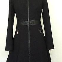 Bebe Fit Flare Black Coat Photo