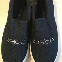 Bebe Girl's Blue Denim Slip on Shoes Sneakers Loafers Size 2/3 New No Box Photo