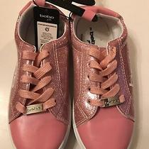 Bebe Girl's Sneakers Shiny Glitter Blush/rose Gold Size 3 New  Photo