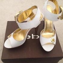 Bebe Gold and White Heel Photo