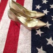 Bebe Gold Heels Pumps Photo