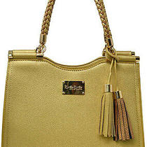 Bebe Gold Natalie Tote/satchel/shopper Purse Handbag Msrp 129 Photo