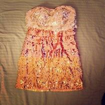 Bebe Gold Sequin Dress Photo