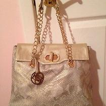 Bebe Gold Snakeskin Handbag Photo