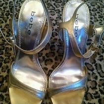 Bebe Gold Stiletto Gold Heels Size 8  Photo