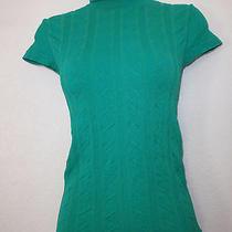 Bebe Green Microfiber Nylon Turltle Neck Size M/l Photo