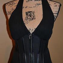 Bebe Halter Corset Gorgeous Black Sz Xs Photo
