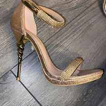 Bebe High Heels Gold Size 7 Photo