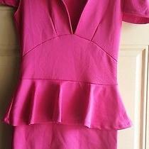 Bebe Hot Pink Sexy Dress Size (M) Photo