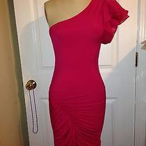 Bebe Hot Pink Women Dress Size M Photo