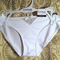 Bebe Intimates White Underwear Large New With Tags Photo