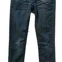 Bebe Jeans Pants Dark Wash Denim Women's Size 26 Skinny 6 Pocket Button Zipper  Photo