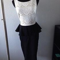 Bebe Lace and Peplum Dress - Beautiful Photo