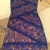 Bebe Lace Blue Dress Xs Photo