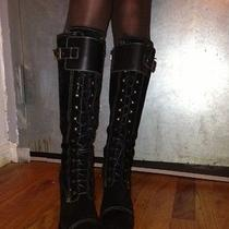 Bebe Lace Up Black Boots Photo