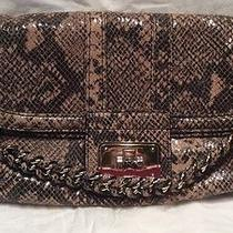 Bebe Leather Snake Clutch( Retail Price 129 Photo