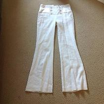 Bebe Linen Fully Lined White Dress Pants Size 6 Photo