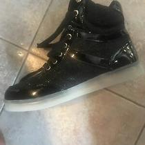 Bebe Lite Up Sneakers Krysten Blkfx Size 8.5 Womens  Photo