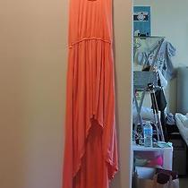 Bebe Medium Long Orange Dress Photo