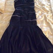 Bebe Mermaid Formal Gown Black and Pewter  Photo