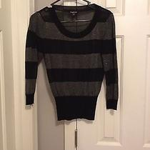 Bebe Metallic Striped Sweater Photo