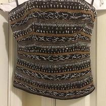 Bebe Metallic Studded Bustier Corset Size S Photo