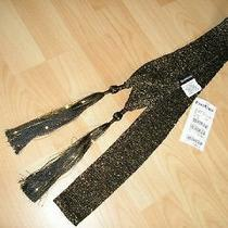 Bebe Metallic Tassle Scarf Nwt Photo