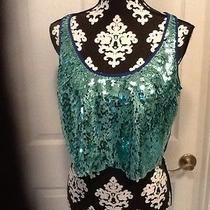 Bebe Mint Green Sequined Top Photo