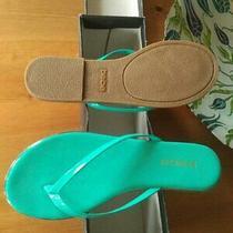 Bebe Nwb Ilistra Teal Thong Flat Flip Flop Sandals Slides 6.5 Green Flip Flops Photo