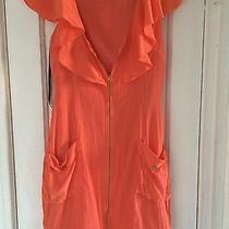Bebe Orange Dress Size Small Photo