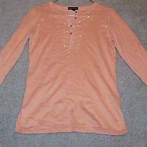 Bebe Orange Long Sleeve Top Size Medium Guc Free Shipping Photo