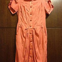 Bebe Peach Pink Summer Belted Polo Shirt Dress Vintage Style Logo Size Xs Photo