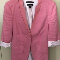 Bebe Pink Linen Blazer 0 Photo