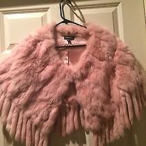 Bebe Pink Rabbit Fur Shrug/wrap Size M/l Photo