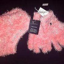 Bebe Pink Swarovski Crystal Texting Gloves Mittens and Hat Beanie New Photo