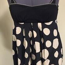 Bebe Polka-Dots 100% Silk Bubble Hem  Fun Sexy Dress Size S  Photo
