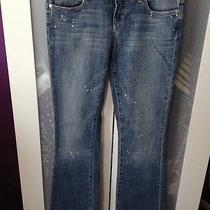 Bebe Premiun Denim Paint Splatter Jeans Size 29 Photo