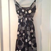 Bebe Printed Black White Geometric Print Dress Medium Med M Photo