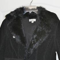 Bebe Rabbit Fur Jacket Blazer Size Large  Great Deal Photo