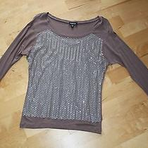 Bebe Sequin Blouse Xs Photo